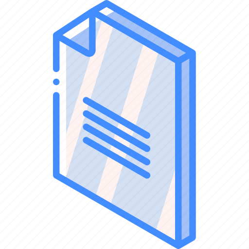 file, folder, iso, isometric, text icon