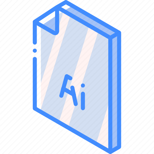 file, folder, illustrator, iso, isometric icon