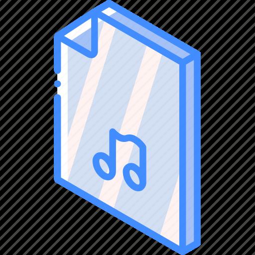folder, iso, isometric, music icon