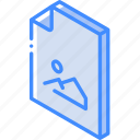 file, folder, iso, isometric, picture icon