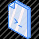 file, folder, iso, isometric, shell icon