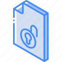 file, folder, iso, isometric, unlock icon