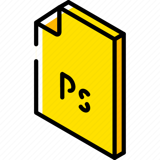file, folder, iso, isometric, photoshop icon