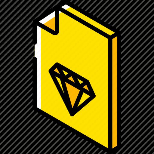 file, folder, iso, isometric, sketch icon