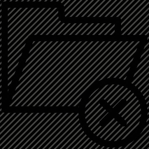 cross sign, document, file folder, folder, letter icon