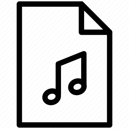 entertainment, file sound, multimedia, music, music file, music folder, music player icon