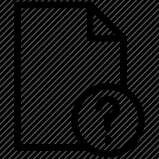 file, folder, folder with question mark, interrogative file, questions file icon