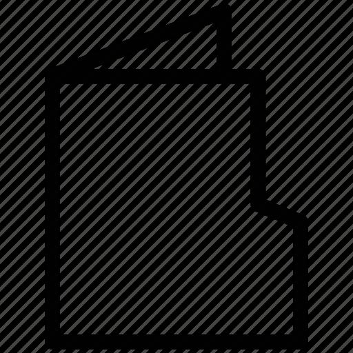 data, data storage, documents, empty folder, file, folder file, open folder icon