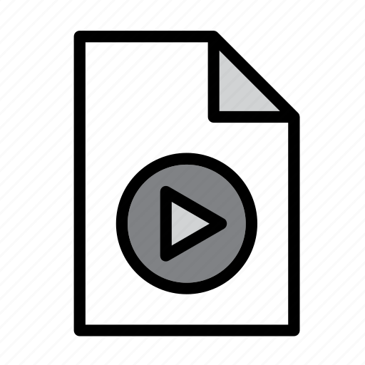 document, file, format, mov, movie, mp4, video icon