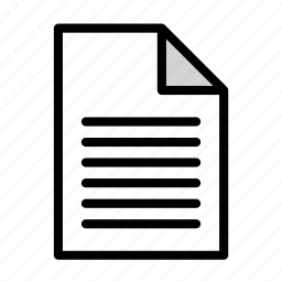 document, file, format, page, paper, text, txt icon