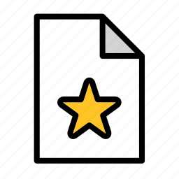 bookmark, document, favourite, file, format, star icon
