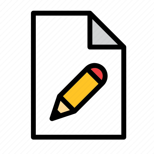design, document, edit, file, format, pencil icon
