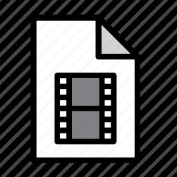 cinema, document, file, film, format, mov, movie icon
