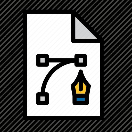 Document, file, eps, graphic design, illustrator, ai file icon - Download on Iconfinder