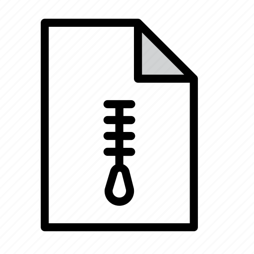 compressed, compression, document, fastener, file, zip, zipper icon