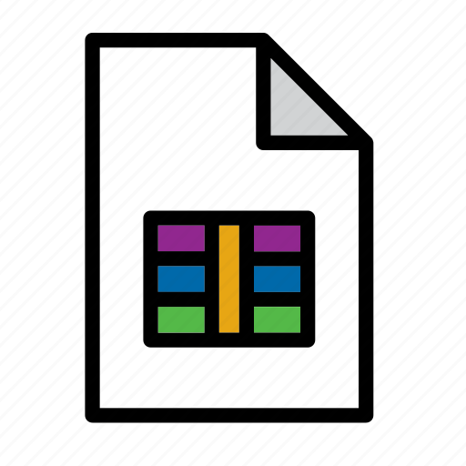 csv, document, file, format icon