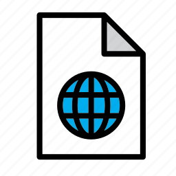 document, file, format, html, internet, network, world icon