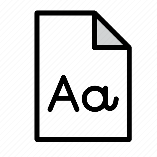 document, file, font, format, page, text icon