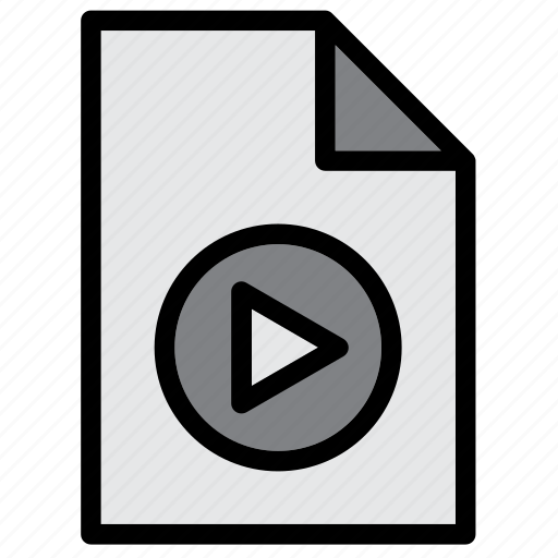 document, extension, file, mov, movie, mp4, play icon