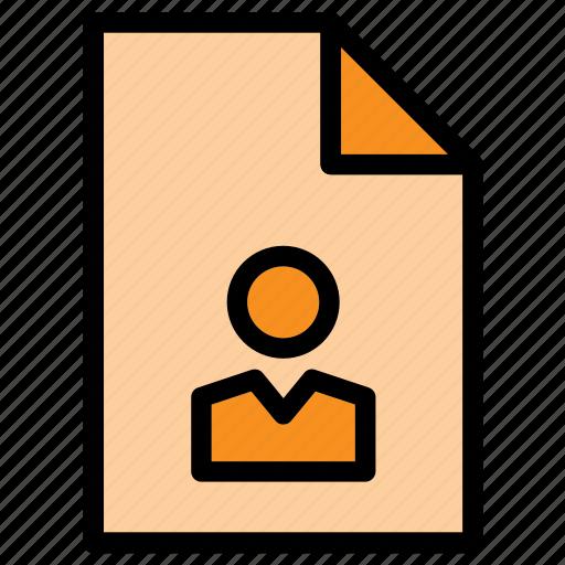 curriculum, cv, document, extension, file, folio, portofolio icon