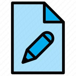 design, document, edit, extension, file, pencil, settings icon
