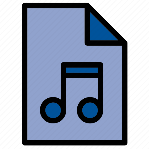 audio, document, extension, file, mp3, music, sound icon