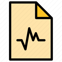 audio, document, extension, file, sound, wav, wave icon