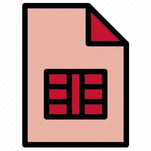 csv, document, extension, file, format icon