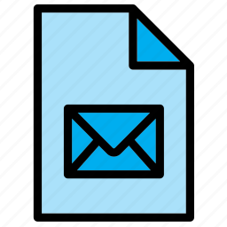 document, email, eml, envelope, extension, file, mail icon