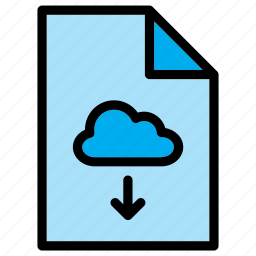 cloud, document, download, extension, file, guardar, save icon
