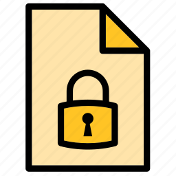 document, file, guardar, lock, locked, padlock, save, security icon