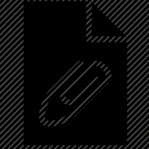 attached, attachment, document, fastener, file, files, paper clip icon