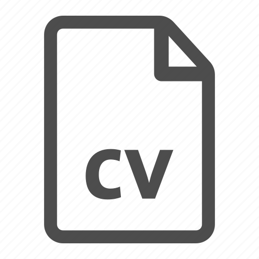 Curriculum cv document file page resume vitae icon Icon