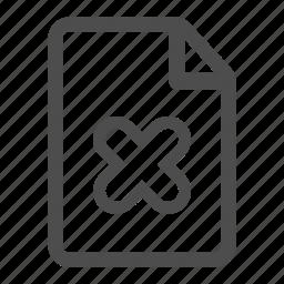 delete, document, erase, file, page, paper, text icon