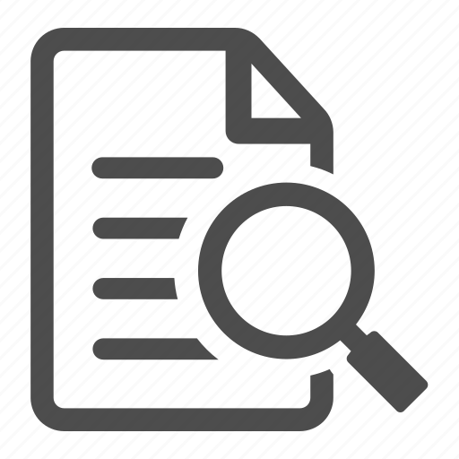 Document, enlarge, examine, file, magnifier, paper, read icon - Download on Iconfinder