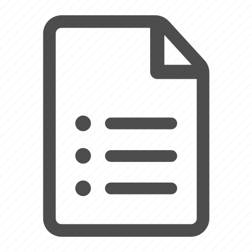 document, file, list, page, paper, sheet icon
