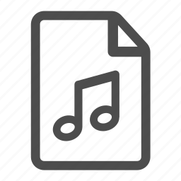 document, file, mp3, music, note, notes, page icon