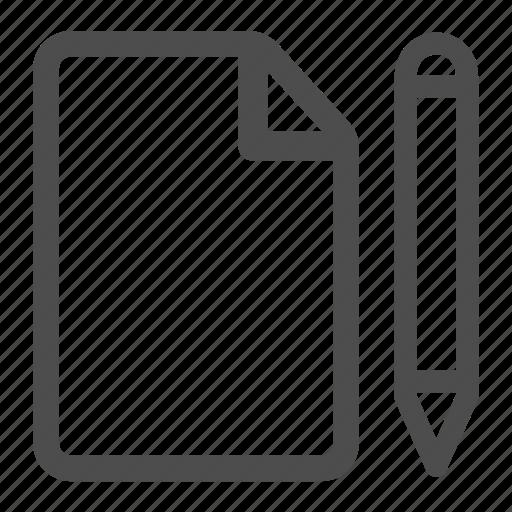 contract, document, file, pen, pencil, sign, signature icon