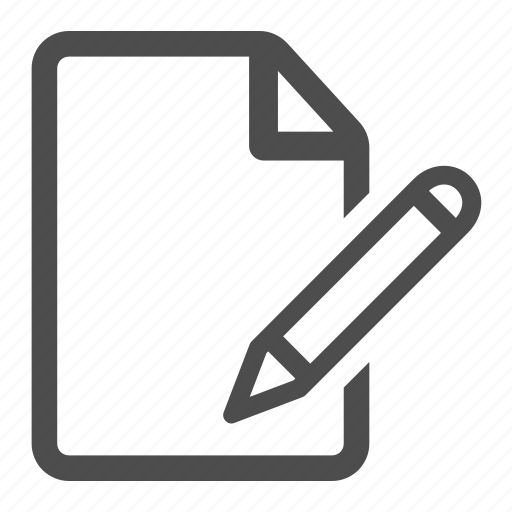 contract, document, edit, page, paper, pen, pencil icon