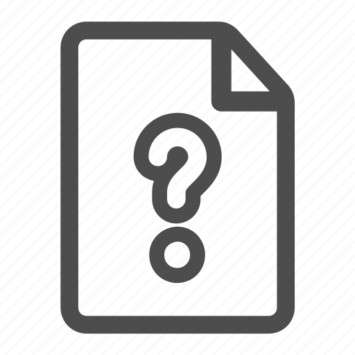 document, file, mark, page, paper, question, sheet icon