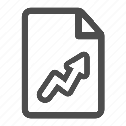 arrow, document, file, grow, stat, statistics, up icon