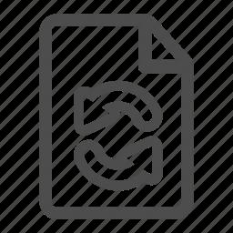 arrow, arrows, document, file, paper, sheet, update icon