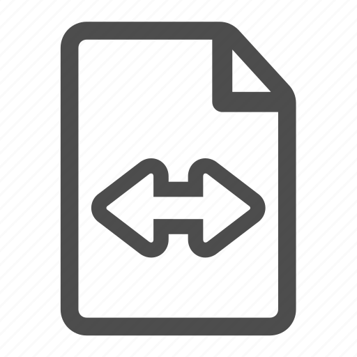 document, file, page, paper, sheet, width icon