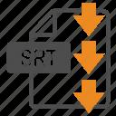 document, download, extension, file, format, srt