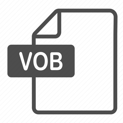 document, extension, file, format, vob icon