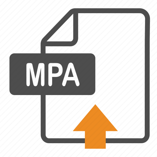 document, extension, file, format, mpa, upload icon