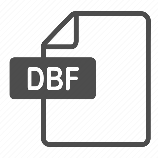 dbf, document, extension, file, format icon