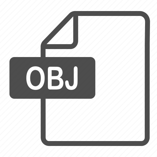 document, extension, file, format, obj icon
