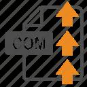 com, document, extension, file, format, upload