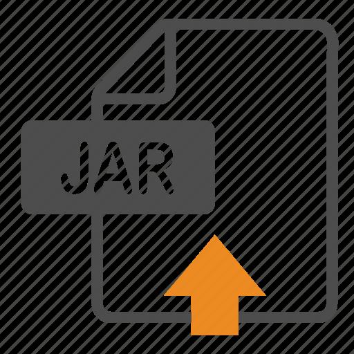 Document, extension, file, format, jar, upload icon - Download on Iconfinder
